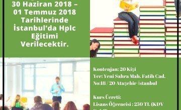 İSTANBUL'DA HPLC EĞİTİMİ